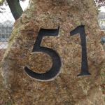 Hausnummer, Gravur