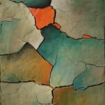 67 - Komposition mit Orange, 83x62, 2005