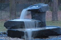 Diabas, Wasserlauf über mehrere Schalen