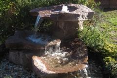 roter Granit, Wasserlauf über mehrere Schalen