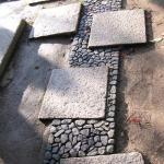 Granitplatten,eingebettet